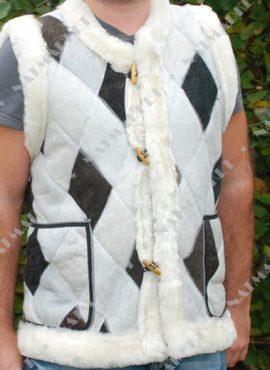 Жилет мужской из натуральной овчины «Мозаика»