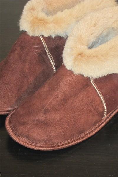 Чуни из натуральной овчины коричневые 41-45 размер