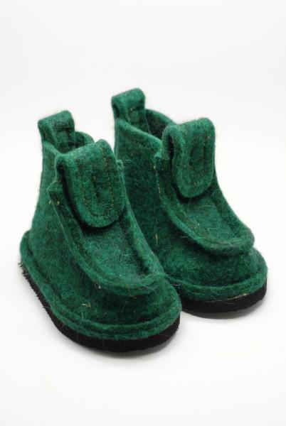 Валеши детские на уличной подошве «зеленые»