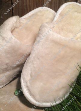 Тапочки из натурального овечьего меха