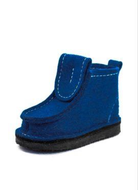 Валеши на толстой подошве синие (уличные)